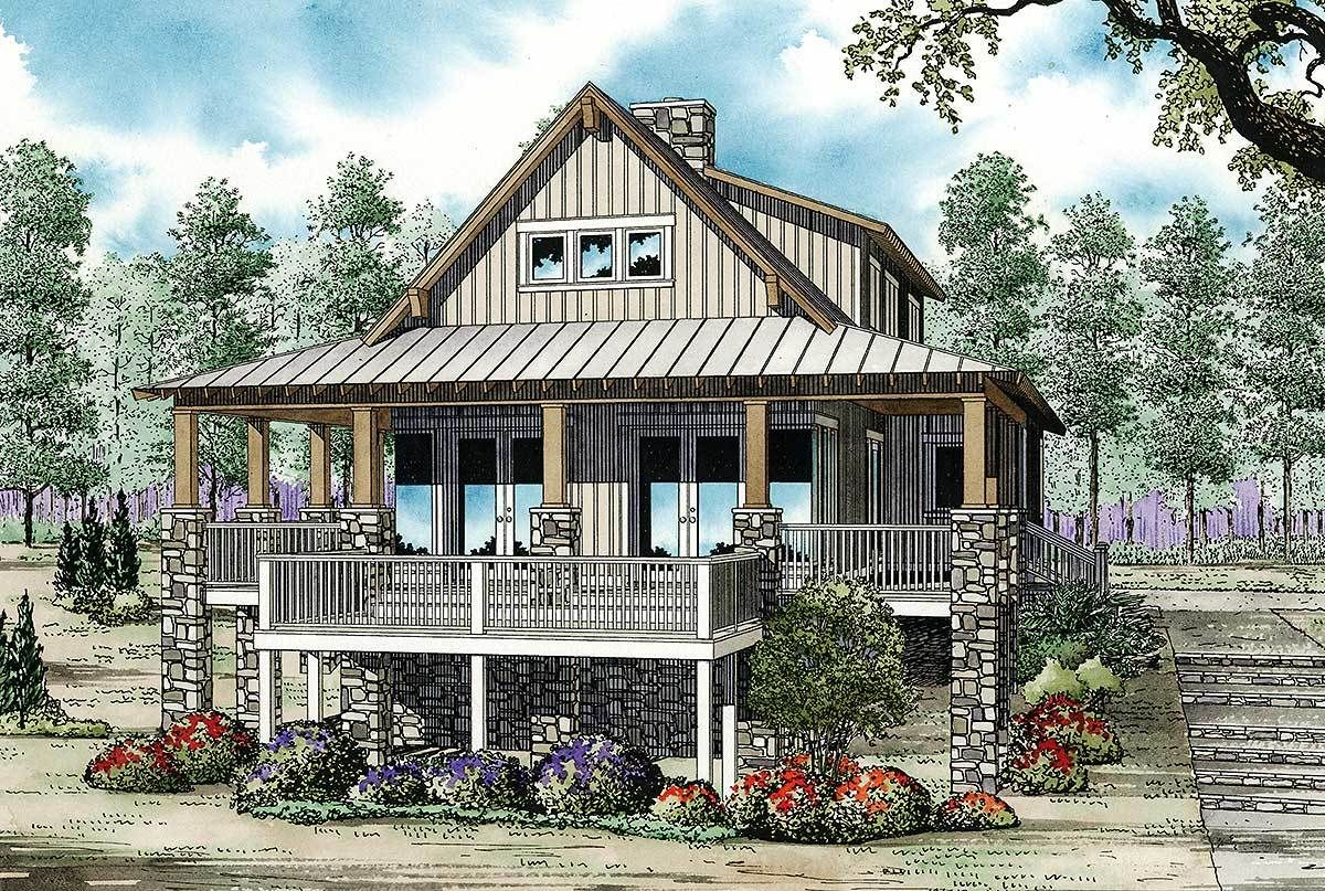 Plan 59964nd Low Country Cottage House Plan In 2021 Country Cottage House Plans Cottage House Plans Beach House Plans