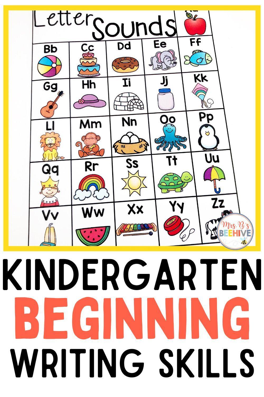 Beginning Writing Skills Writing Skills Writing Instruction Kindergarten Resources Writing skills for kindergarten