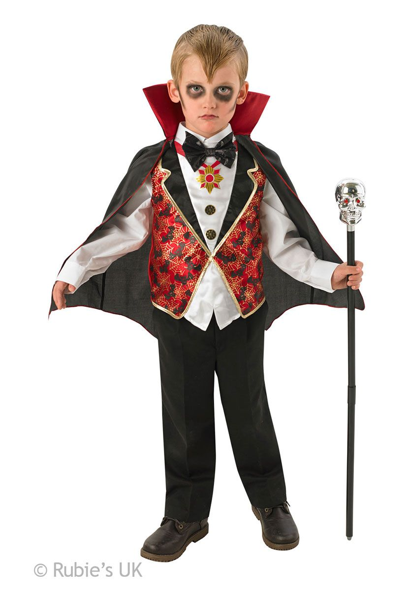 Costume Halloween Uk.Kids Dracula Costume Vampire Fancy Dress For Children Halloween