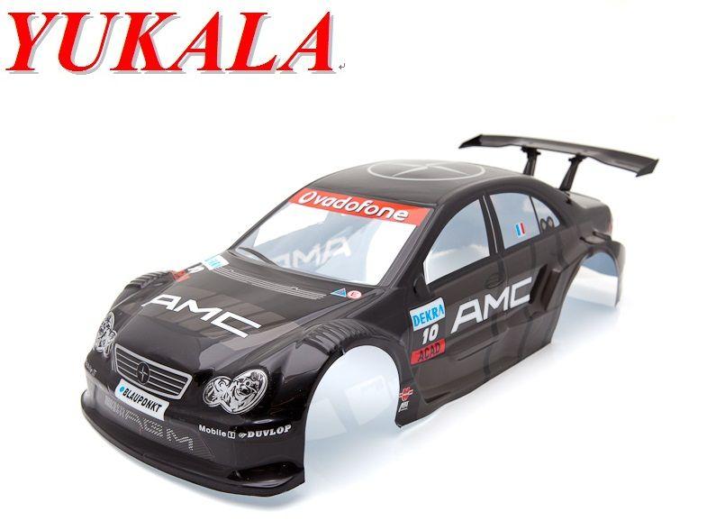 Yukala 1 10 Rc Car Parts 1 10 R C Car Body Shell 200mm Black No