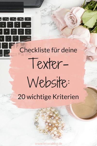 Checkliste für deine Texter-Website: 20 wichtige Kriterien ...