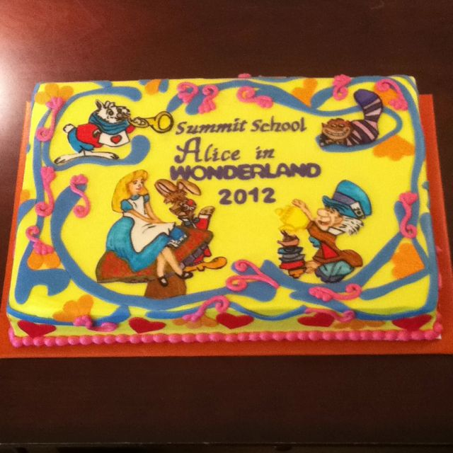 Alice In Wonderland Sheet Cake Mad Hatter Birthday Party Alice
