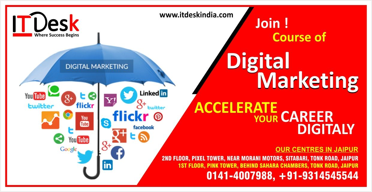Digital Marketing Course In Jaipur India Digital Marketing Institute Digital Marketing Marketing Courses Marketing Institute