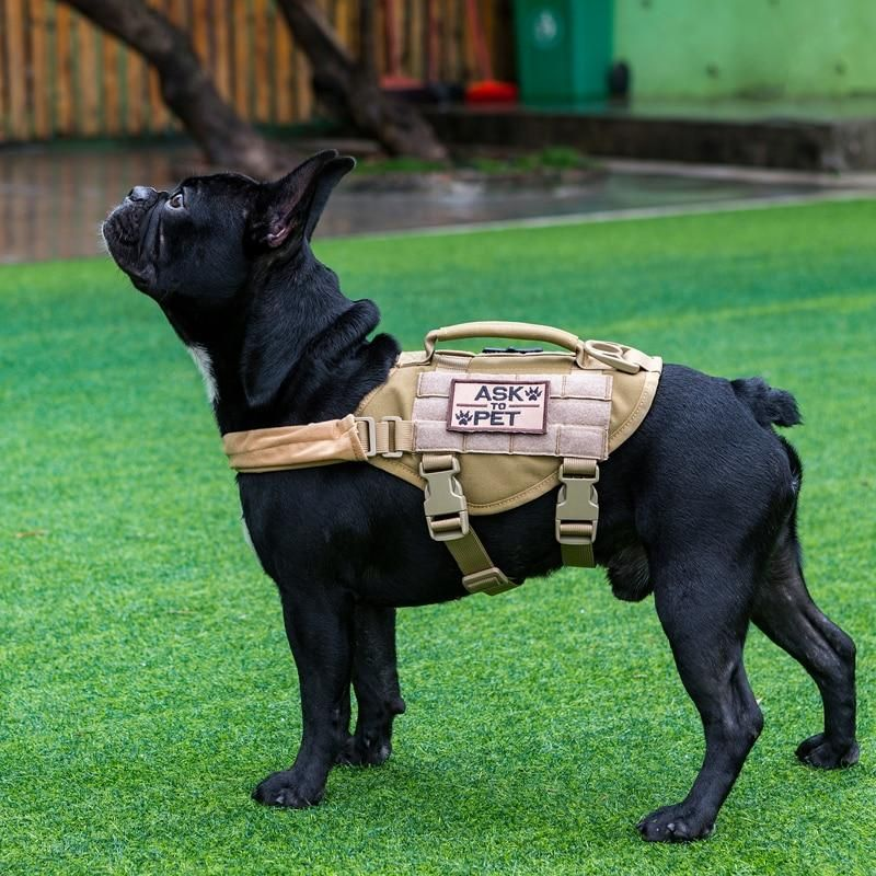 MOLLE Small Sized K9 Dog Vest for Walking Hiking