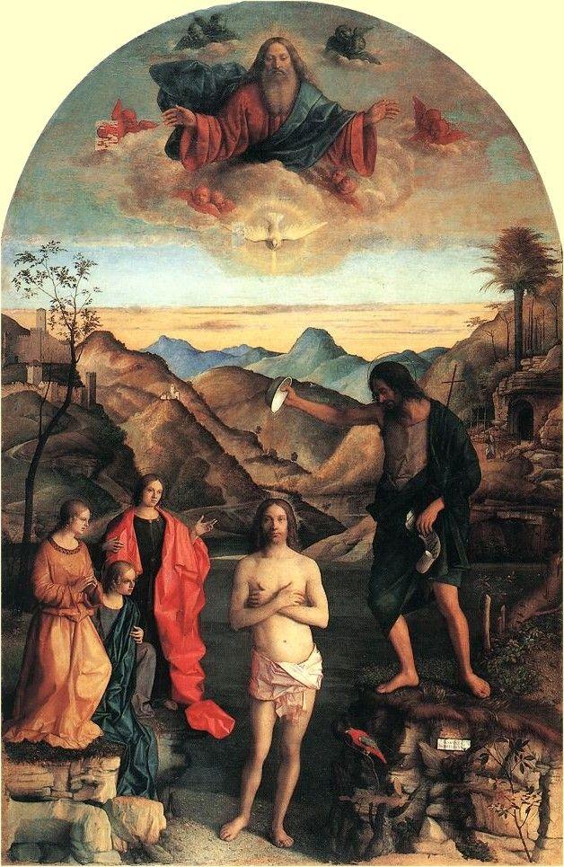 Giovanni Bellini Taufe Christi Santa Corona In Vicenza
