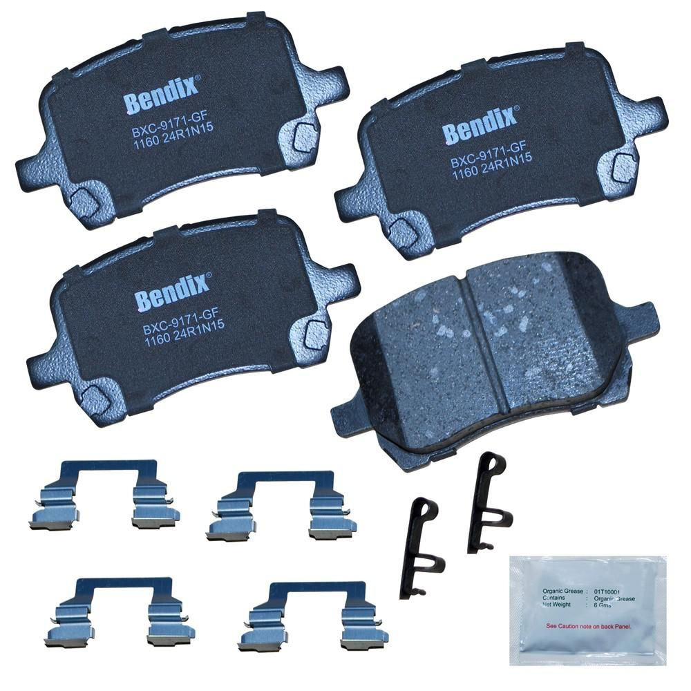 Bendix Premium Copper Free Disc Brake Pad Set 1998 2002 Honda Accord 2 3l Cfc1160 The Home Depot Brake Pads Ceramic Brake Pads Honda Accord