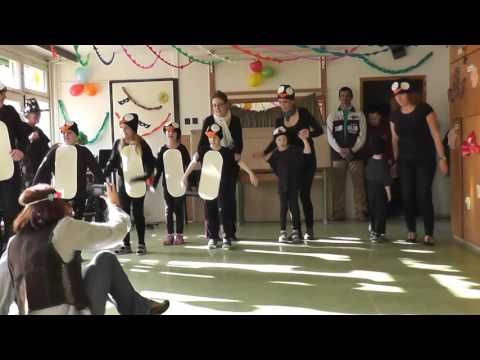 Pingvintánc Elsősök, Farsang, Bárczi iskola, Veszprém - YouTube