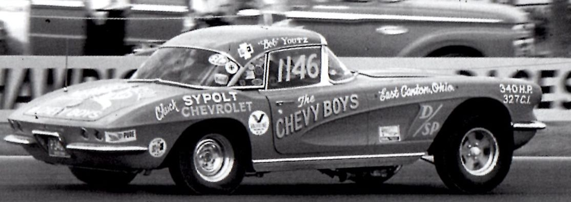 Bob Youtz from East Canton ran his 1962 Corvette in D/Sports at the 1966 NHRA Nationals..