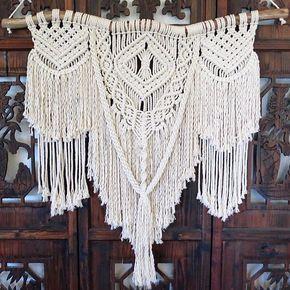 Large boho macrame wall hanging - Tapices de macrame ...