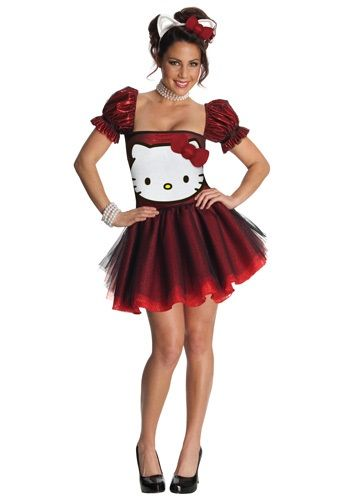 Hello Kitty Costume Adult Halloween Fancy Dress