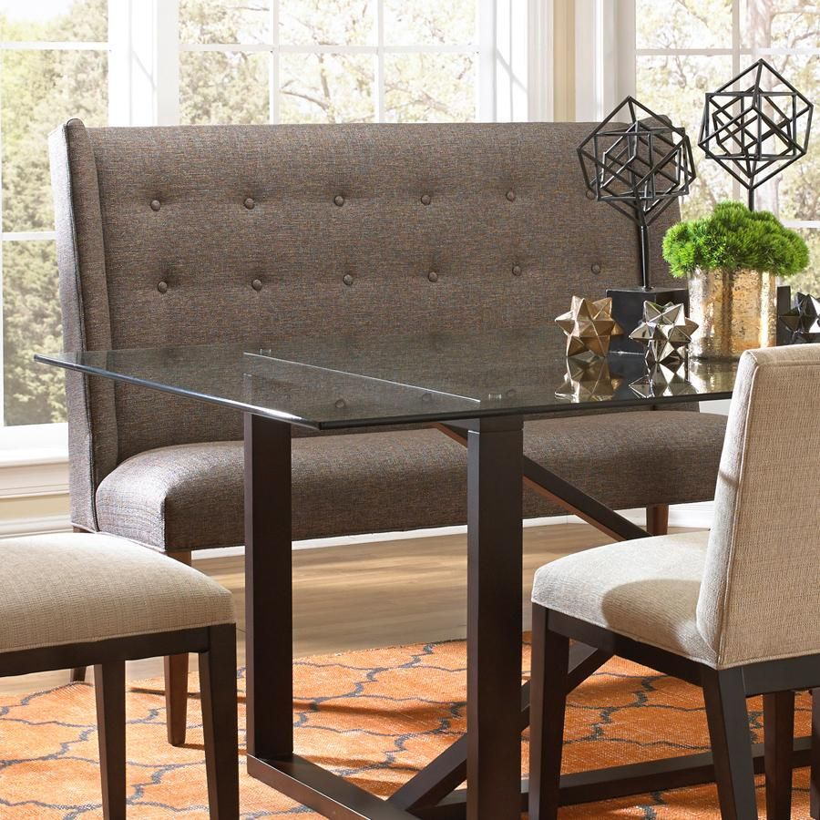 Dining Items Upholstered Dining Settee With Tufted Wing Back By BeModern