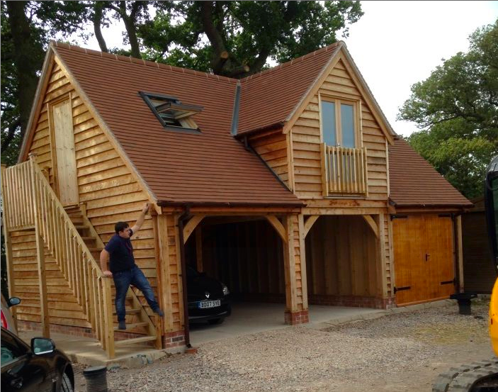 Garage With Accommodation Above Garage Guest House Timber