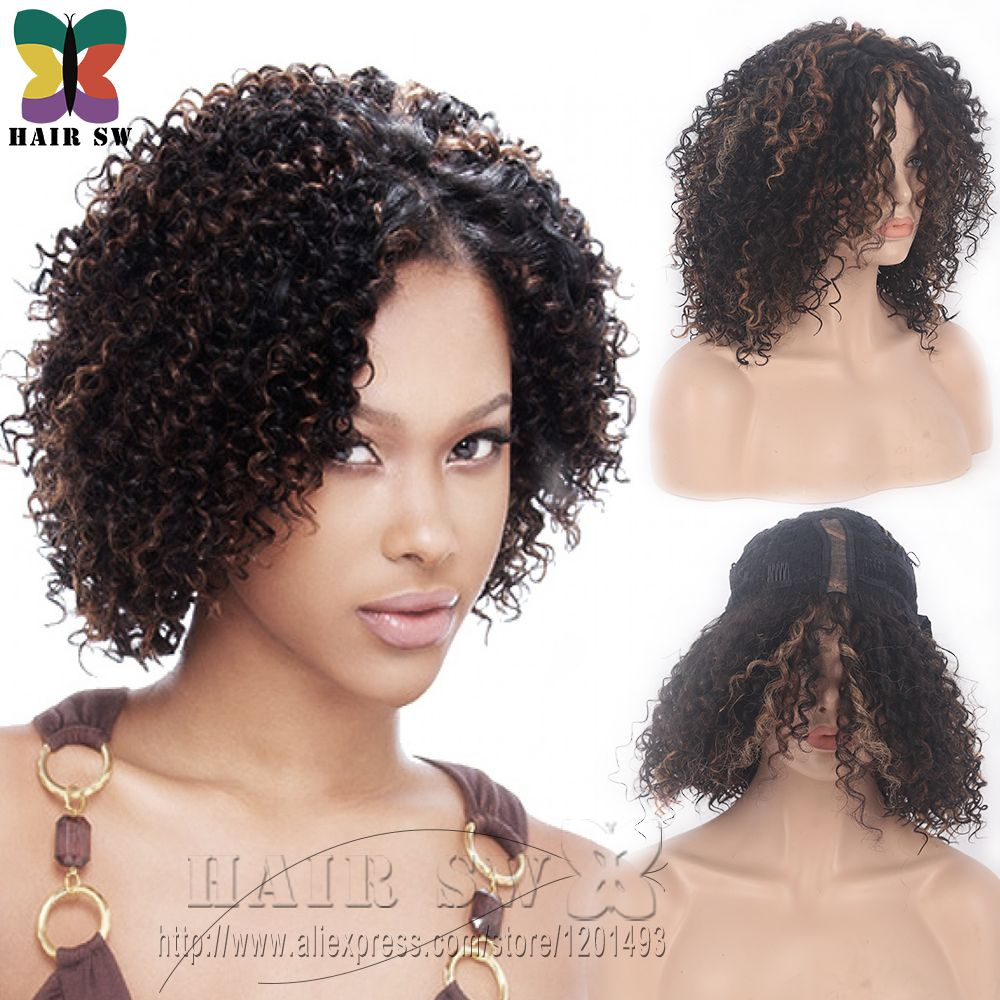 lace front deep invisible l part synthetic short wig natural