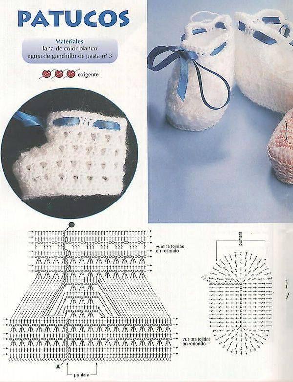 Scarpine Bambini Schema Grati Free Tutorial Crochet Uncinetto