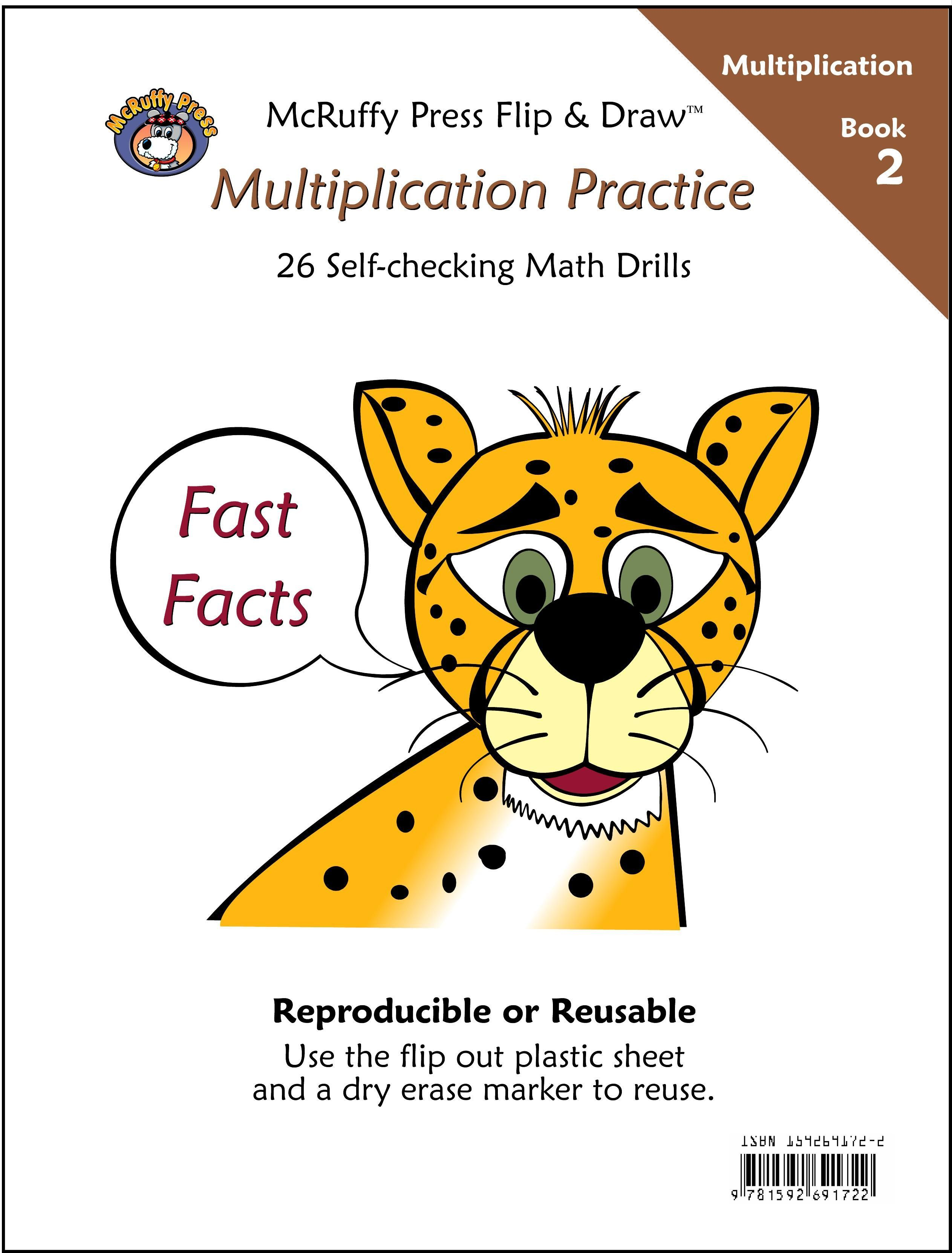 McRuffy Fast Facts Flip and Draw Books - Multiplication Practice ...