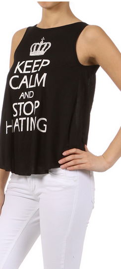Peces - Keep Calm Top, $29.99 (http://www.shoppeces.com/keep-calm-top/)
