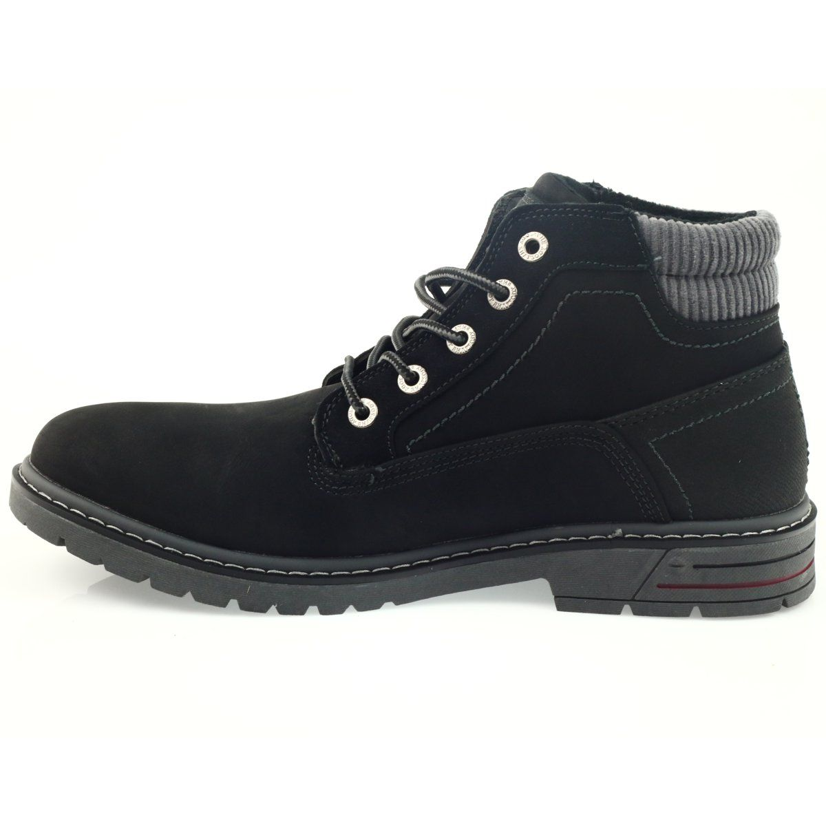American Club American Trapery Buty Zimowe Trekkingi Czarne Club Shoes Trekking Shoes Comfortable Shoes