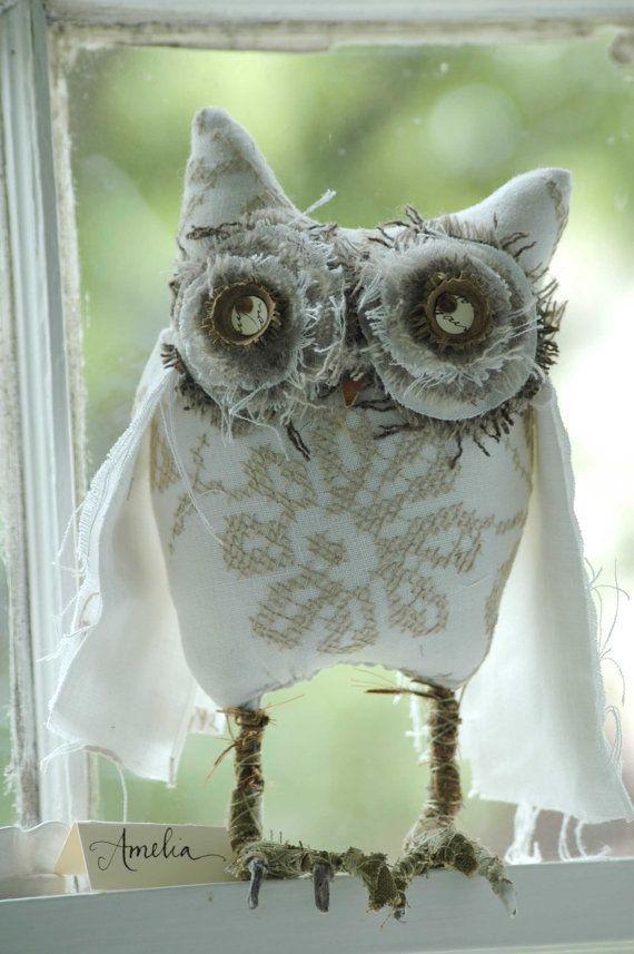IntotheWoods Woodland Owl Amelia por lorinichols en Etsy