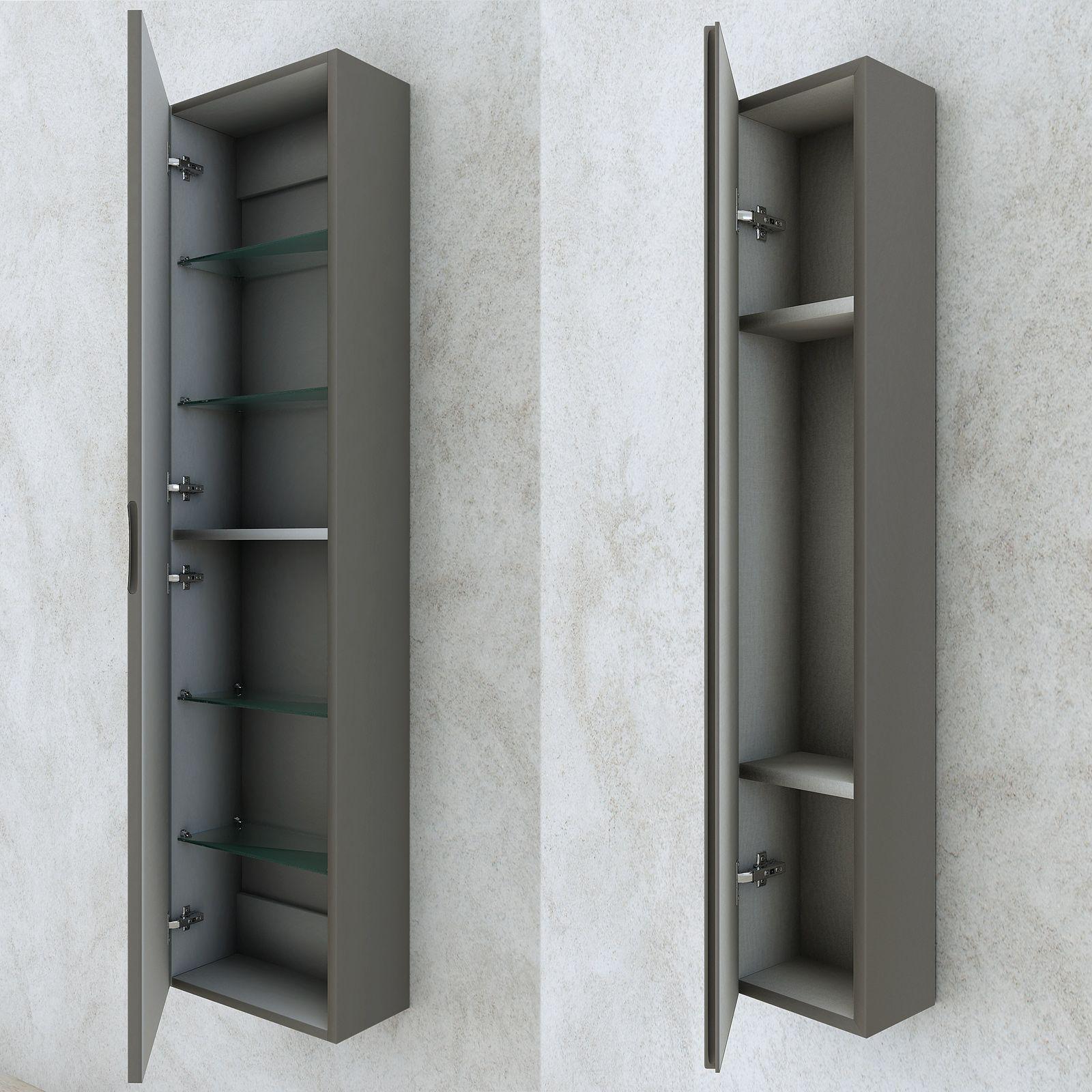 Mobile bagno con cassettiera moderno grigio talpa opaco