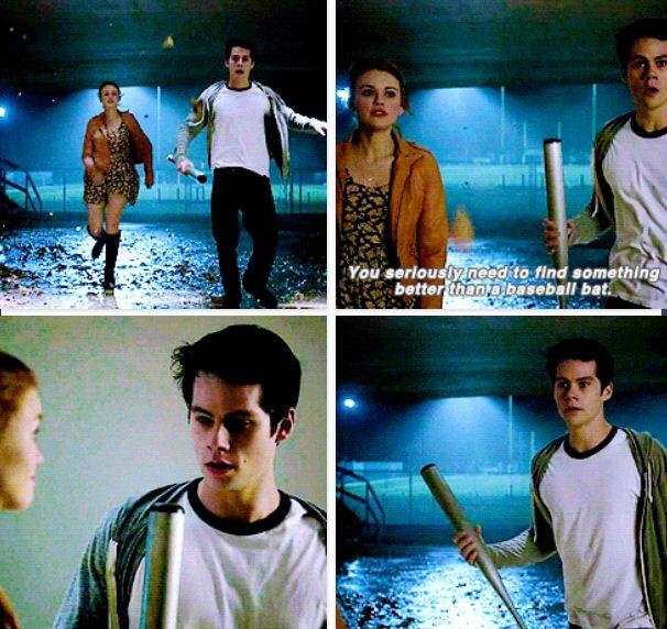 Stiles and his bat
