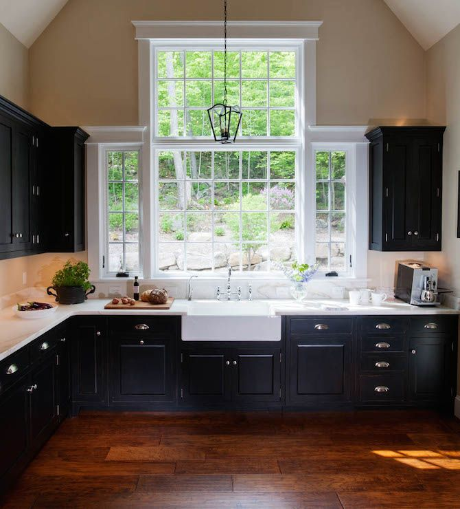 Transitional Kitchens With White Cabinets: White And Black Kitchens, Transitional, Kitchen, Crown