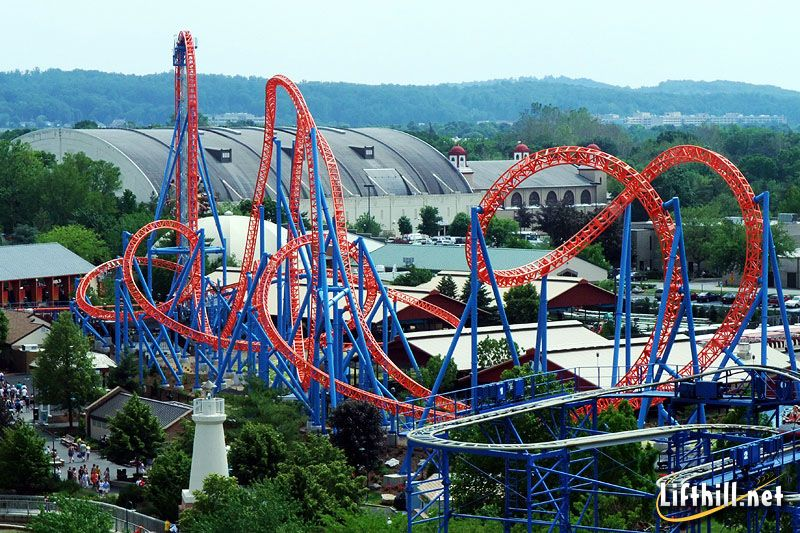 Image result for fahrenheit roller coaster drop
