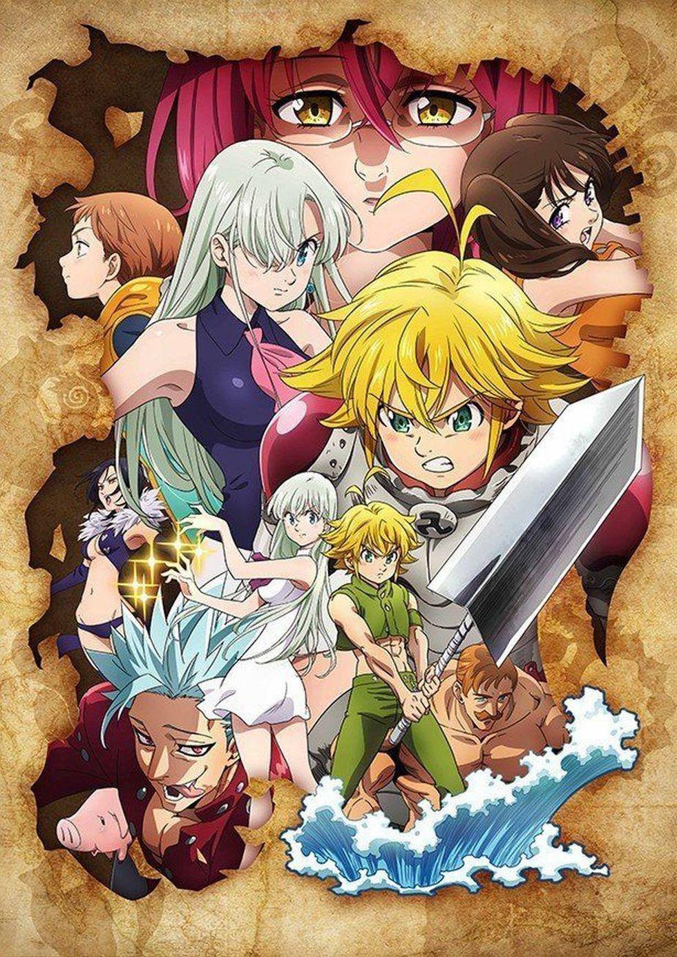 Los 7 Pecados Capitales Temporada 4 Seven Deadly Sins Anime Anime Anime Wall Art
