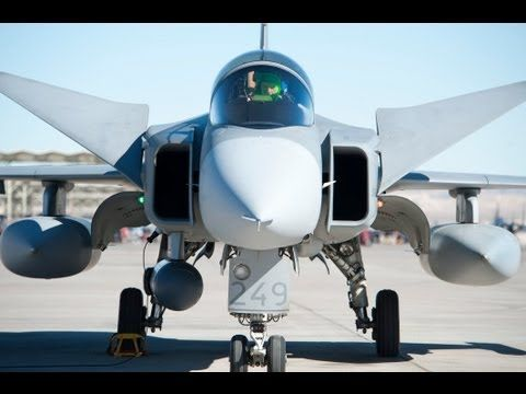 ▶ Gripen NG (Sukhoi Su-35 Hunter Killer) Saab JAS 39 - The Saab JAS 39 Gripen (Griffin) is a lightweight single-engine multirole fighter manufactured by the Swedish aerospace company Saab. It was designed to replace the Saab 35 Draken and 37 Viggen in the Swedish Air Force (Flygvapnet). It has a delta wing and canard configuration with relaxed stability design and fly-by-wire technology. Powered by the Volvo-Flygmotor RM12 engine, & has a top speed of Mach 2.
