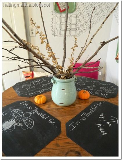 Hating Martha Thanksgiving Christmas Chalkboard Placemats Chalkboard Placemats Christmas Chalkboard Chalkboard Projects