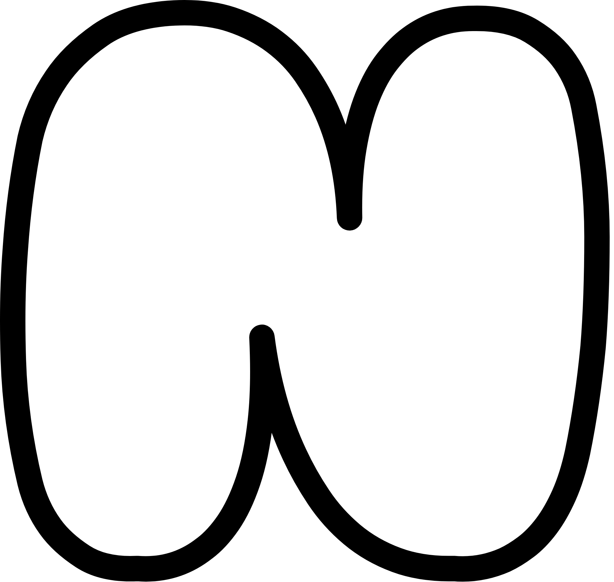 Uppercase Bubble Letter N (With images) Bubble letters