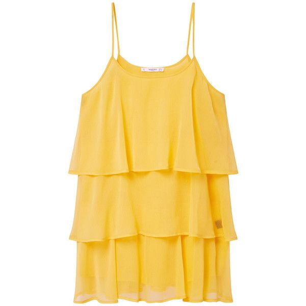 sale online 50% off promo code MANGO Ruffled Dress ($25) ❤ liked on Polyvore featuring dresses ...