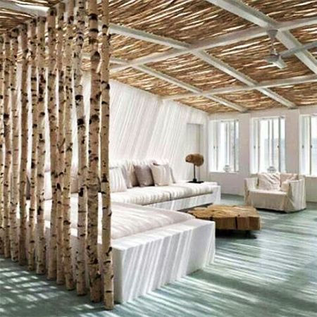 Tree trunk branch modern room divider partition for the - Interior design without a degree ...
