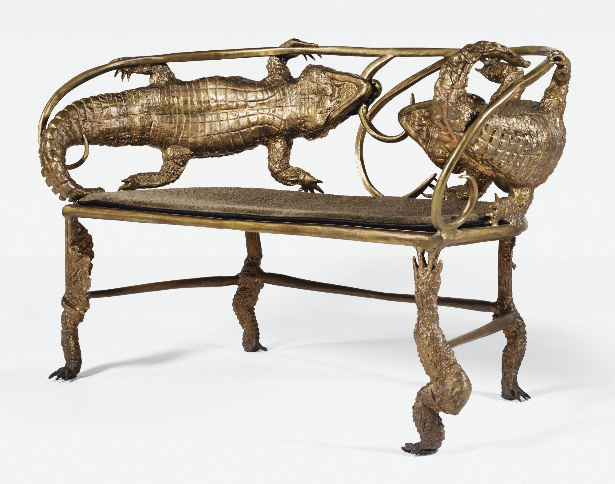 Banquette Crocodile, ||| Furniture