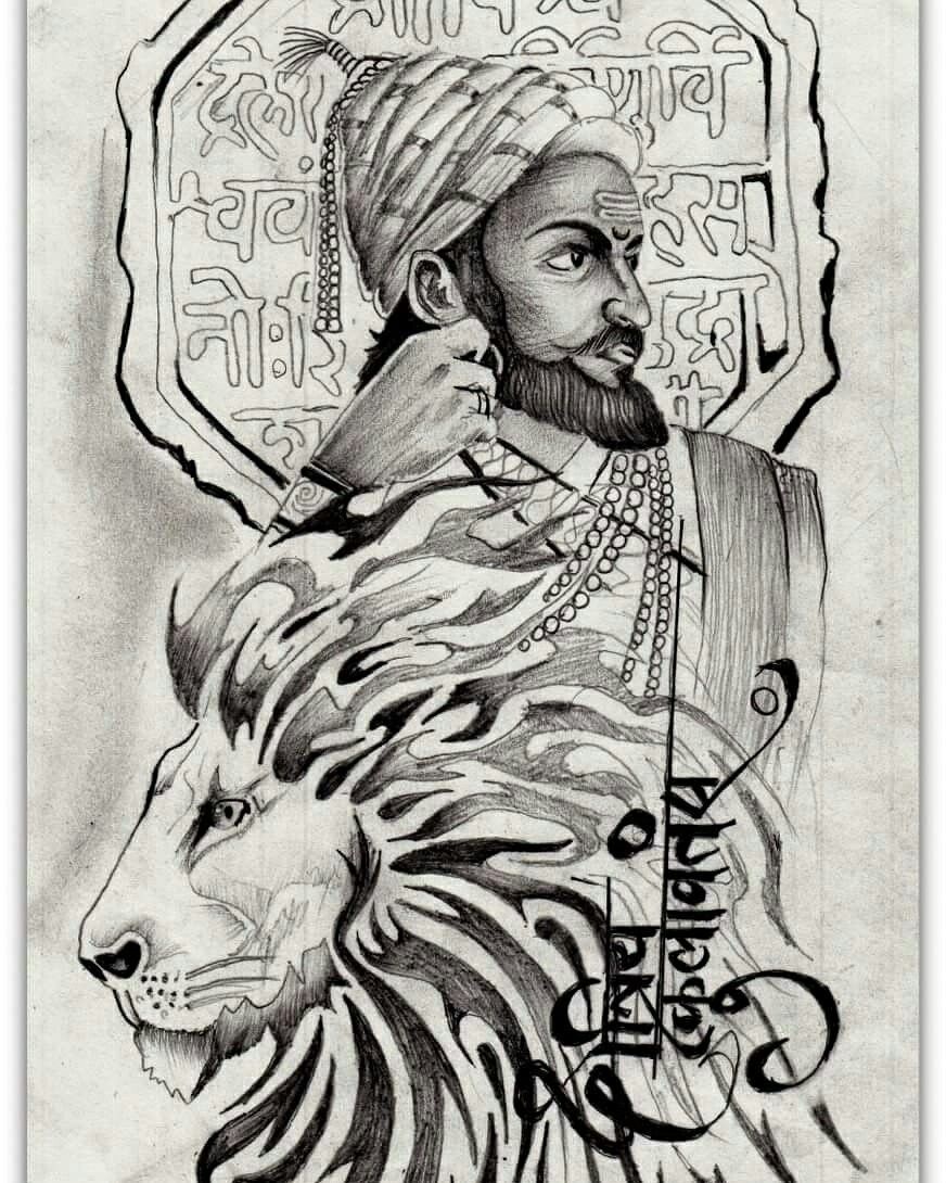 Shivaji maharaj tattoo shivaji maharaj painting shivaji maharaj hd wallpaper hd wallpapers 1080p