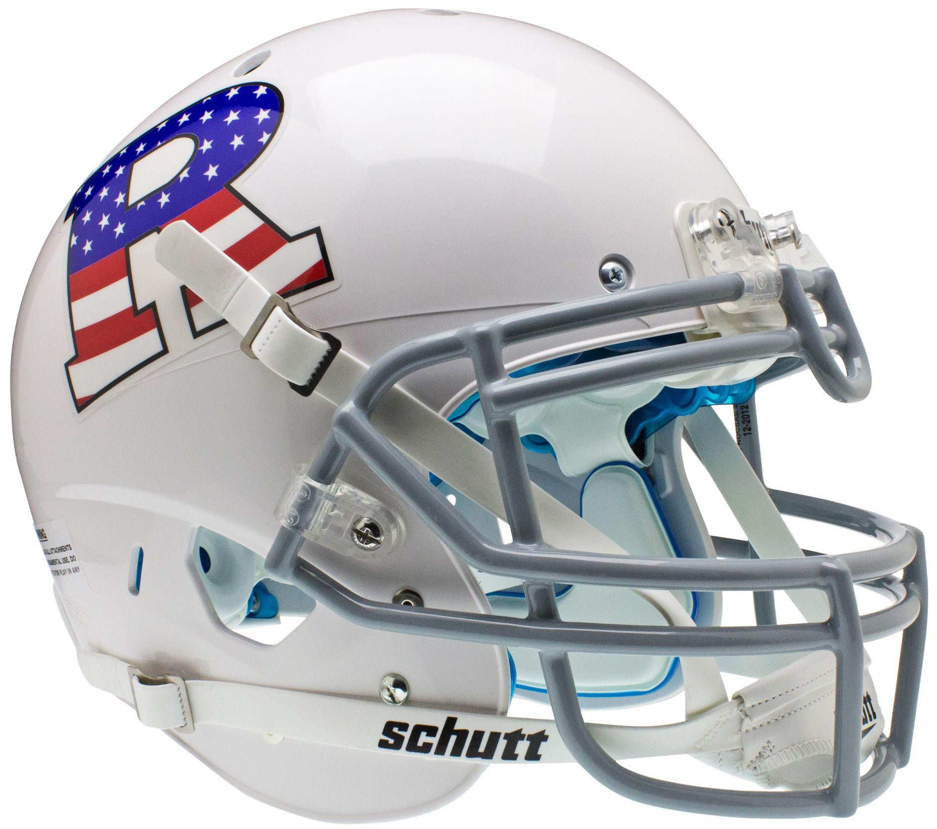 RUTGERS SCARLET KNIGHTS NCAA Schutt Authentic MINI Football Helmet CHROME//RED