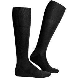 Falke Men's Luxury No.6 series, calcetines largos, seda de lana merino, halcón negro
