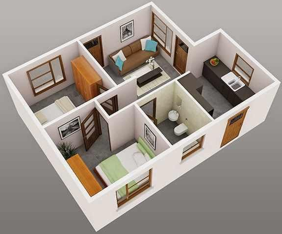 3d Plan Design And Interior Decorating Wish To Renovate Or Construct Your New Dream House Why You Are Lat Two Bedroom House Simple House Design House Plans