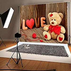 Amazon 7x5ft retro wood photography backdrops cute bear red amazon 7x5ft retro wood photography backdrops cute bear red love photo background for voltagebd Image collections
