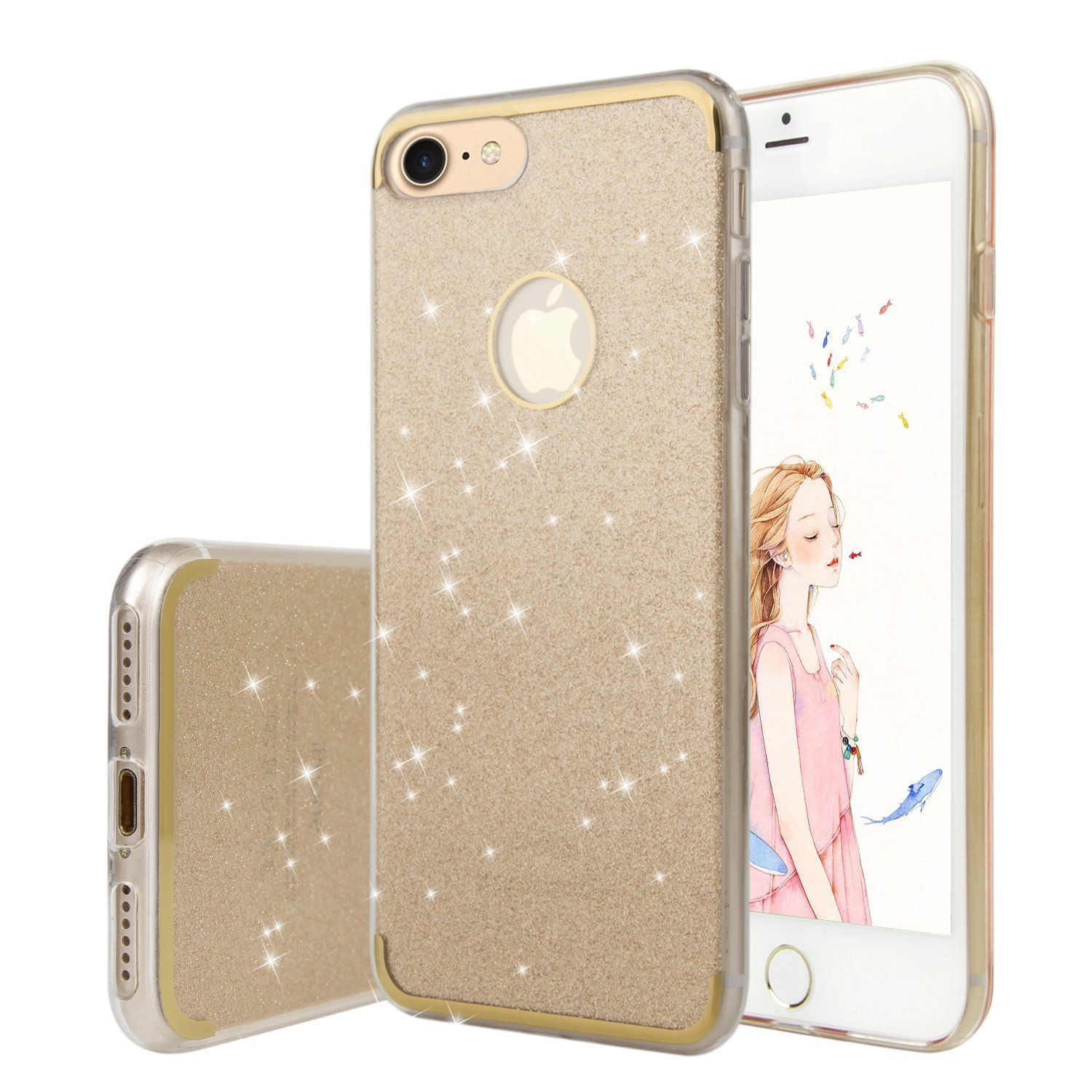 iPhone 8 Case iPhone 7 Case Cover in Silicone WXY iPhone 8 Glitter Bling