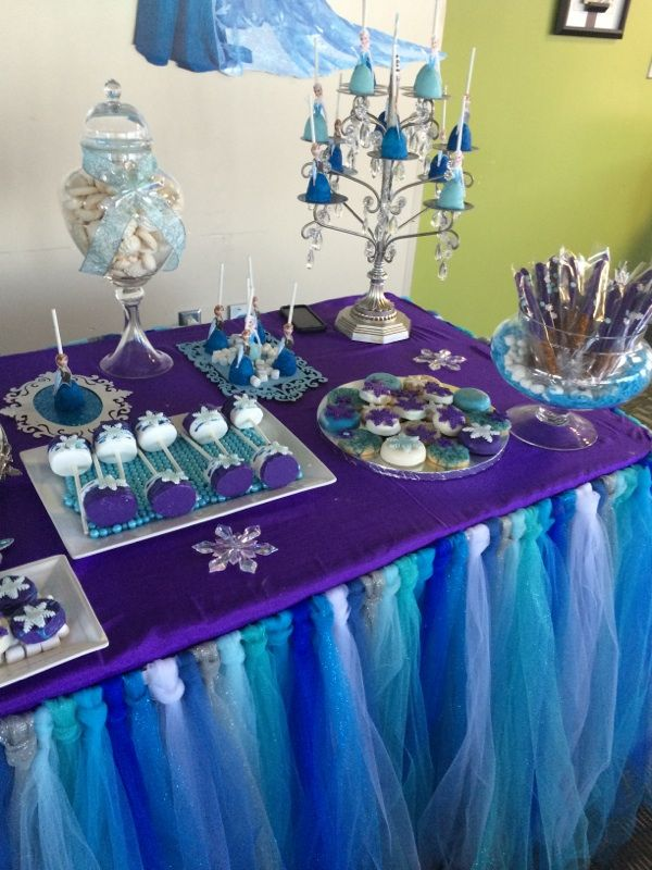 Candy Table Frozen Theme Mermaid Birthday Party Frozen Birthday Party Birthday Parties