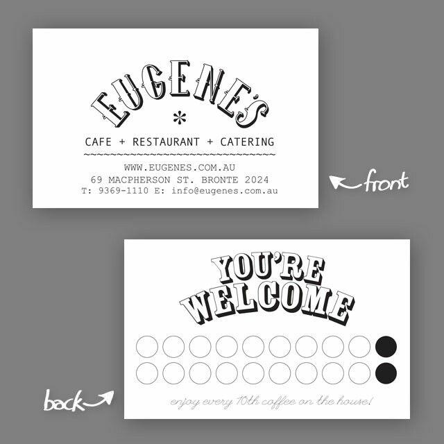 Eugenes cafe businesscard design retro classic branding eugenes cafe businesscard design retro classic branding printing businesscards reheart Choice Image