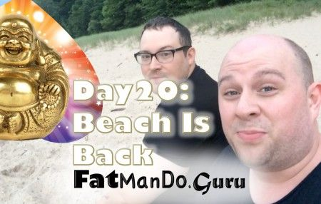 Picture It.  Sunday, July 6th, 2014.  Two men go to Lake Michigan @ 8pm and find rain and an empty beach.  YEAH!   Today was a great day! #FatManDo #FatManDoGuru