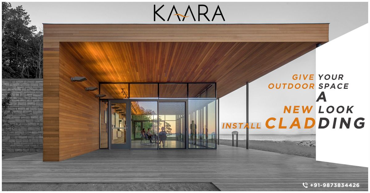 Dirt conveys a very neglected look to your building when only paint is used as a finishing surface. Install Cladding from KAARA and protect it from external weather conditions like winds, sunlight and rain. To buy, call us at +91-9873834426 OR mail your requirements & details at contact@kaaradecor.com #cladding #Decking #Pargola #Trellis #outdoordecor #outdoorhomedecor #outdoordecordesign #HomeDecoration #claddingDesign #kaara #Kaaradecor