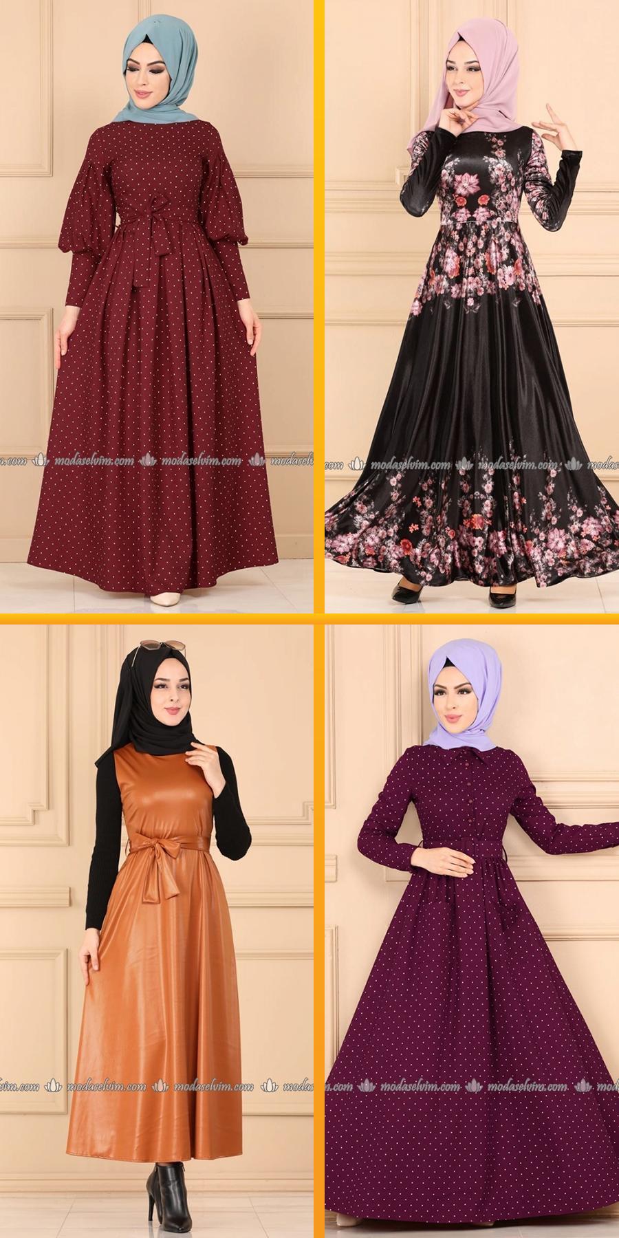 Modaselvim Elbise Modelleri 2020 2 Moda Selvim Yeni Sezon Tesettur Elbise Modelleri 2020 Elbise Modelleri Elbise Moda