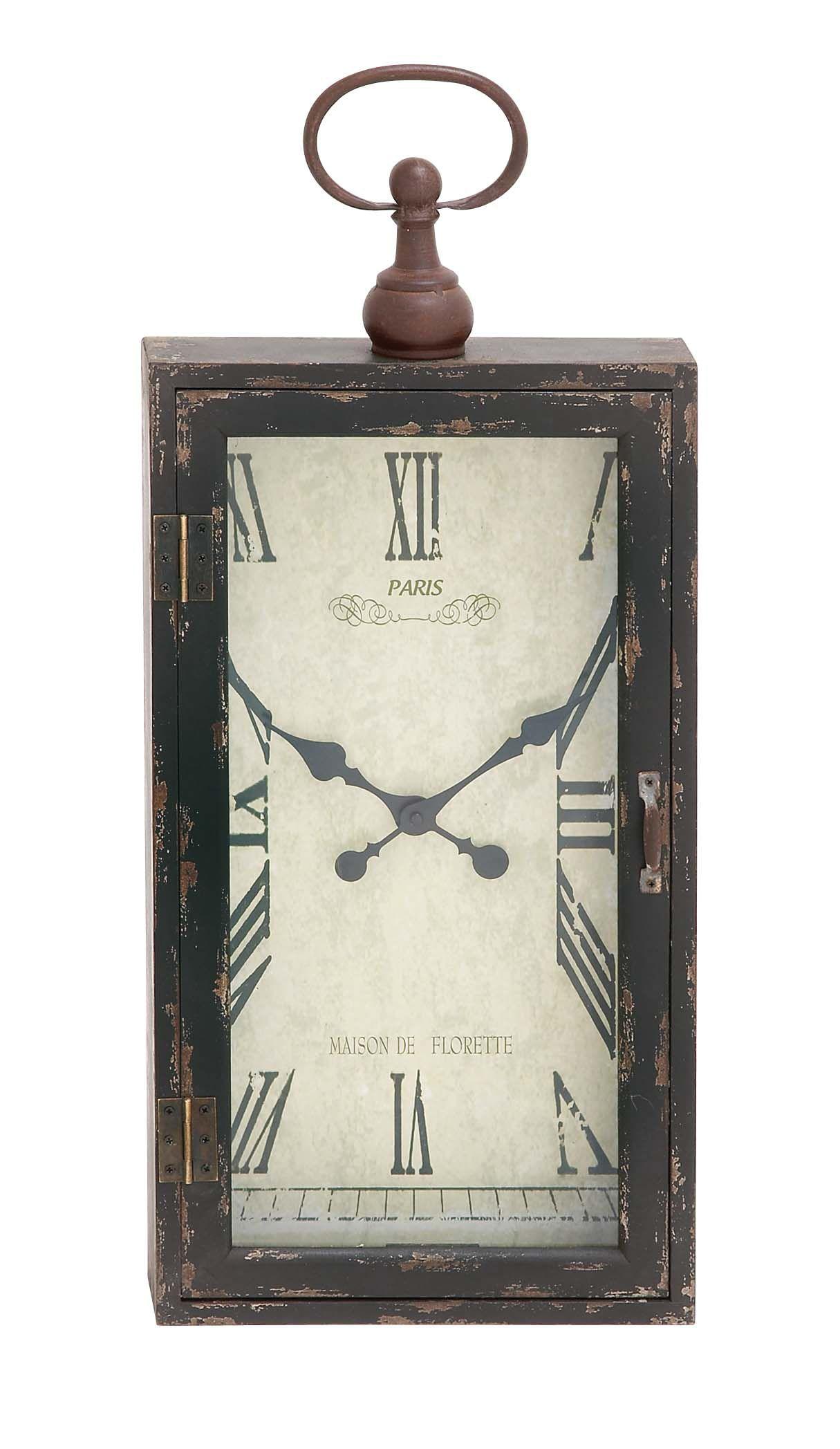 Distressed Chic Wood Metal Wall Clock Wall Clocks Pinterest