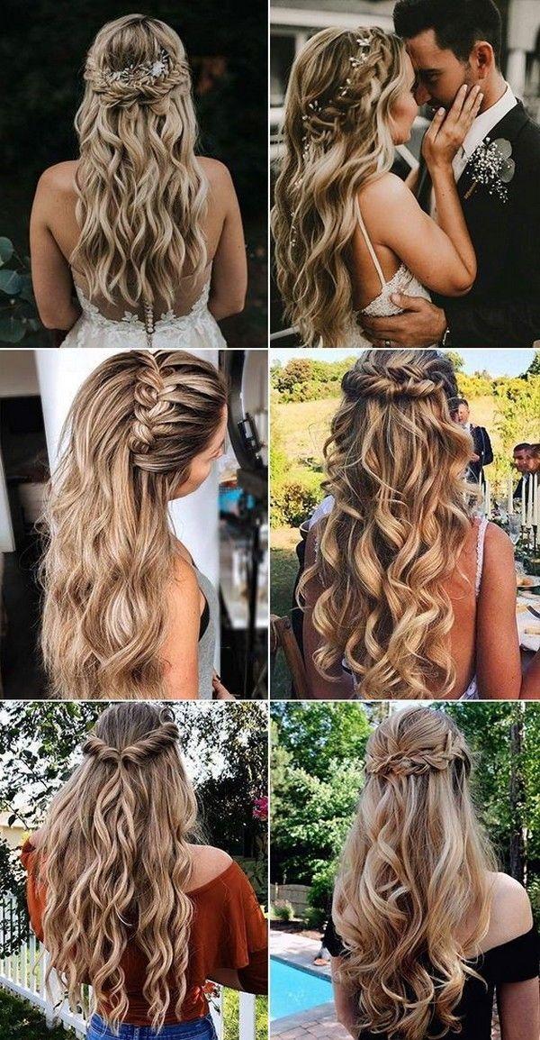 Más de 100 ideas largas de peinado de boda que te encantarán  – Peinados