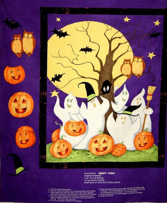 Easy Quilt Fabric Panel Kit Ghost Story Fabric Wall Hanging Panel ...