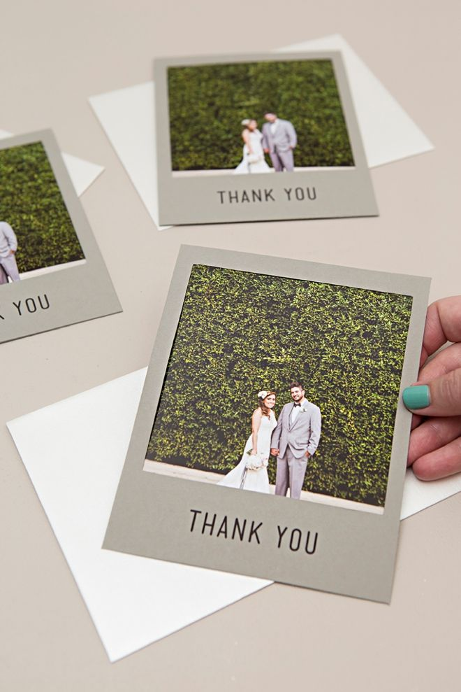 Check Out These Adorable Diy Polaroid Photo Thank You Cards My