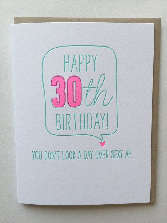 30th Birthday Card Funny For