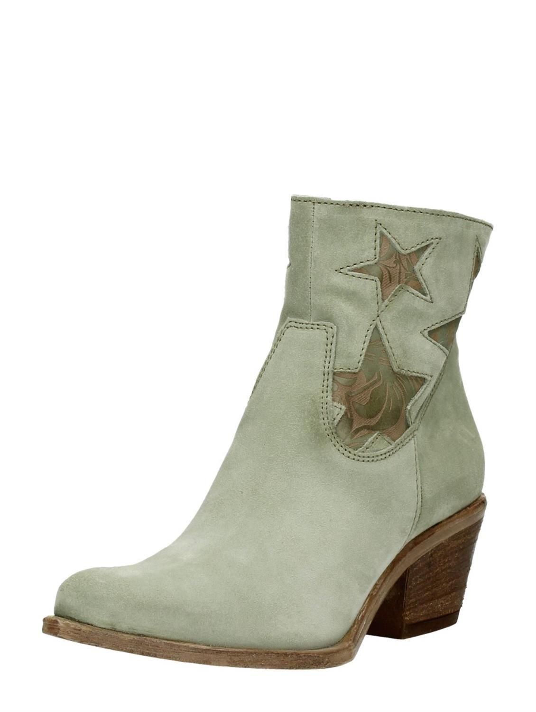 MJUS western laarzen met decoratieve sterren groen